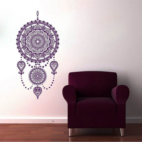 Decoracion en paredes zentangle art pinterest - Mandalas para pared ...