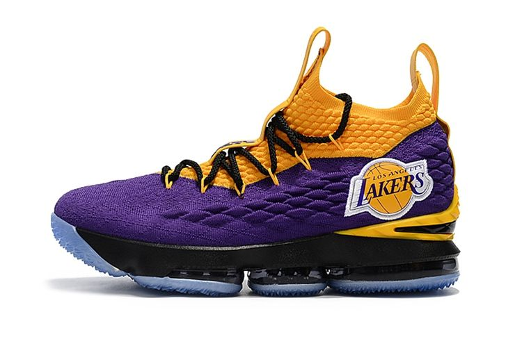 030612a71d016 2018 Nike LeBron James 15 High Lakers Mens Basketball Shoes
