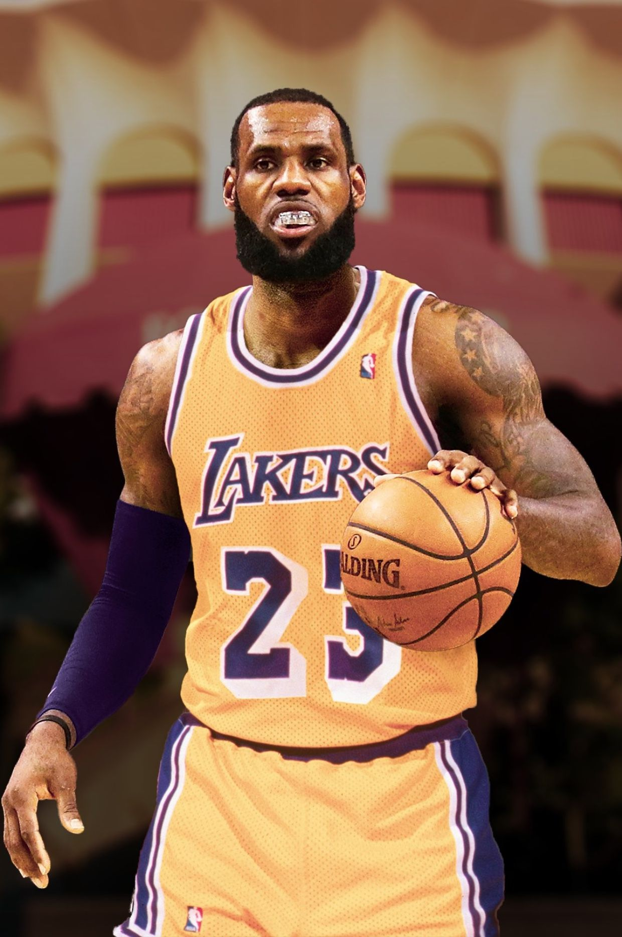 167ca43d5e0 LeBron James | Showtime | Lebron james lakers, Nba basketball ...