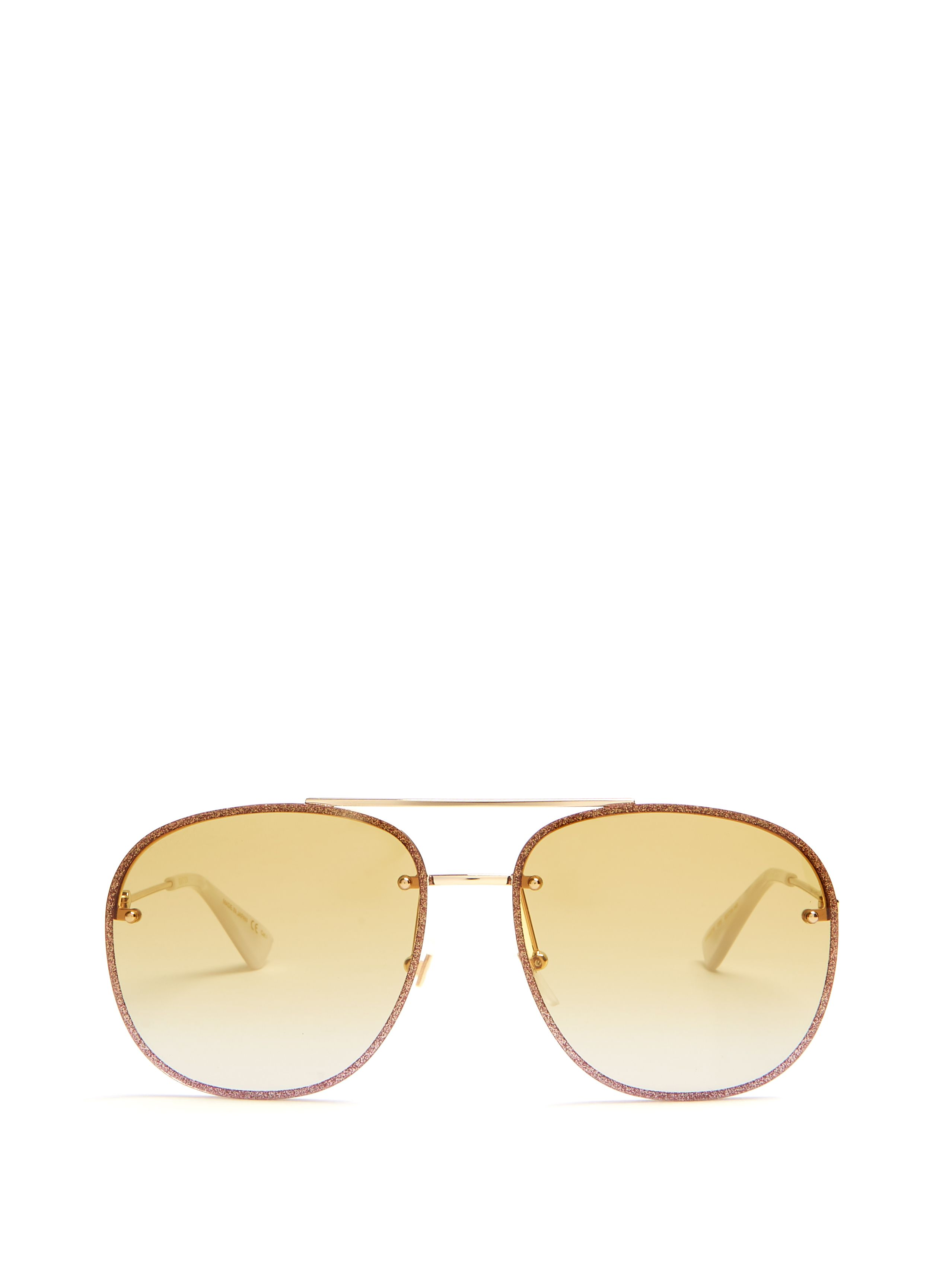 d58020673e2 GUCCI GLITTER-EMBELLISHED AVIATOR SUNGLASSES.  gucci   Buy Gucci