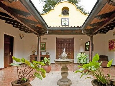 Interior Courtyard Hacienda Style Homes Spanish Style