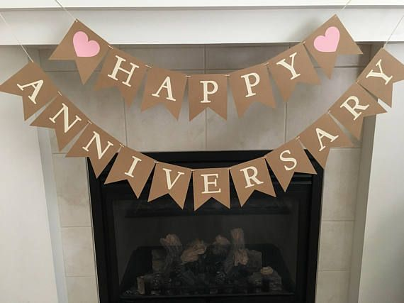 Happy anniversary banner anniversary banner wedding banners by