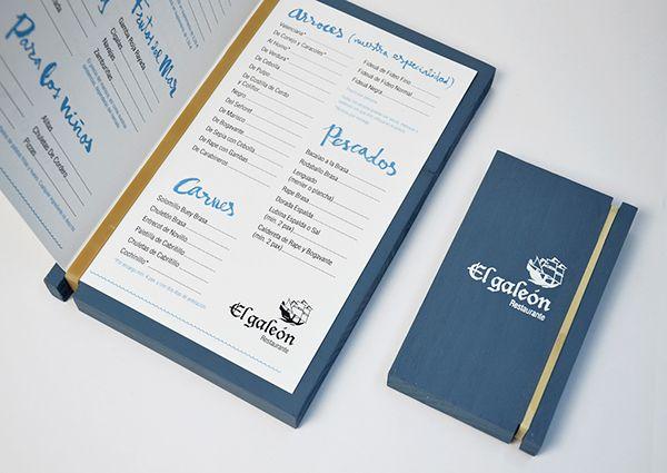Cartas Restaurante El Galeón On Behance Cartas Restaurante Cartas De Menú Restaurantes