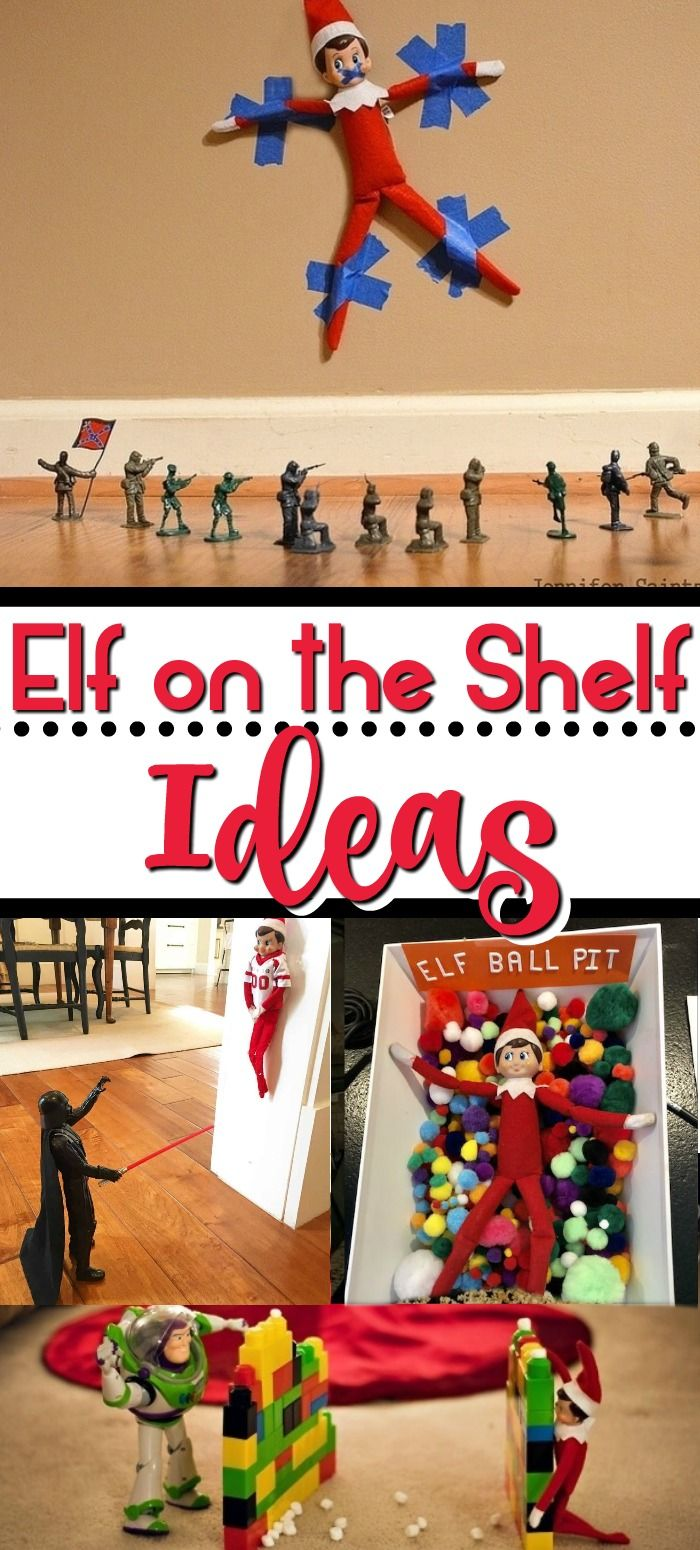 Easy Elf on the Shelf Ideas #easyelfontheshelfideaslastminute