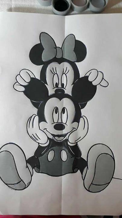 Pin De Janaina Marcela En Eide Dibujos Invitaciones De Cumpleanos De Mickey Mouse Dibujo De Minnie