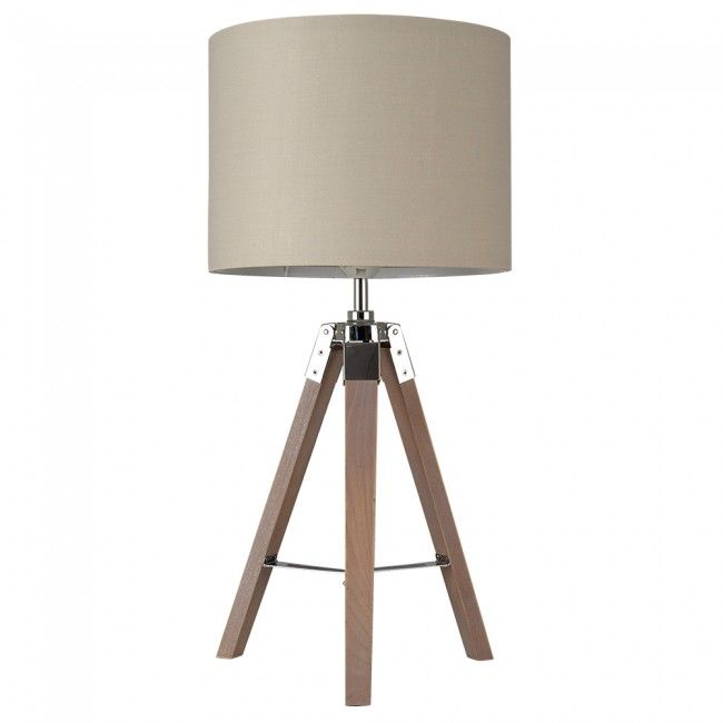 Nautical Style 'Marine' Wooden Tripod Table Lamp with