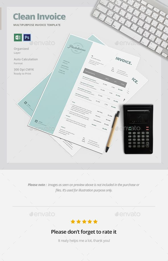 Clean Invoice Template Template Proposal Templates And Font Logo - Proposal invoice template