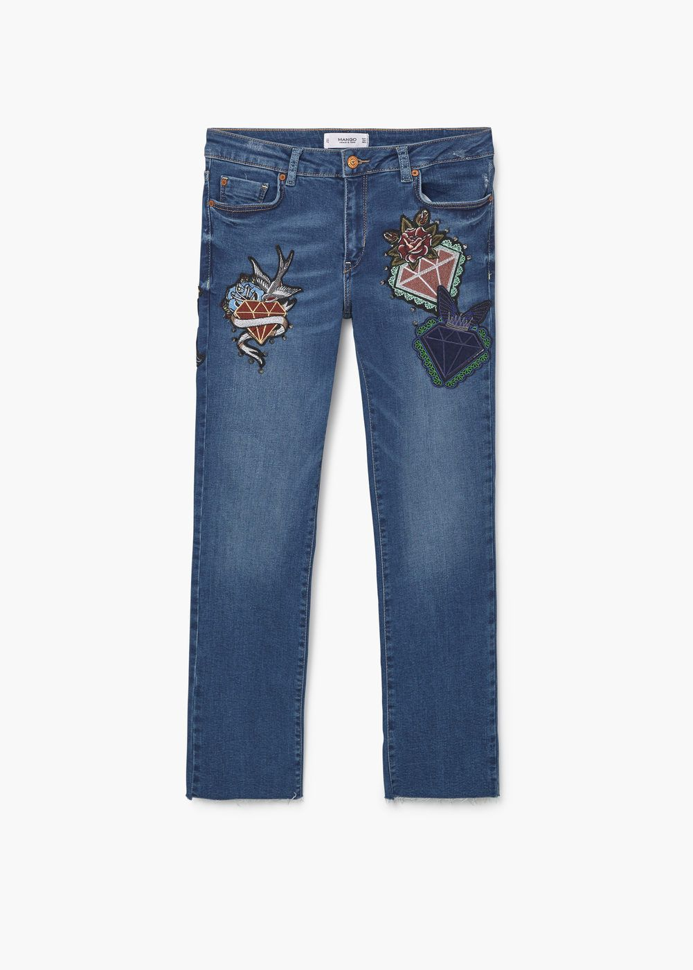 3b44e4c9 School cropped straight jeans - Dames | Jeans Pants Trousers ...