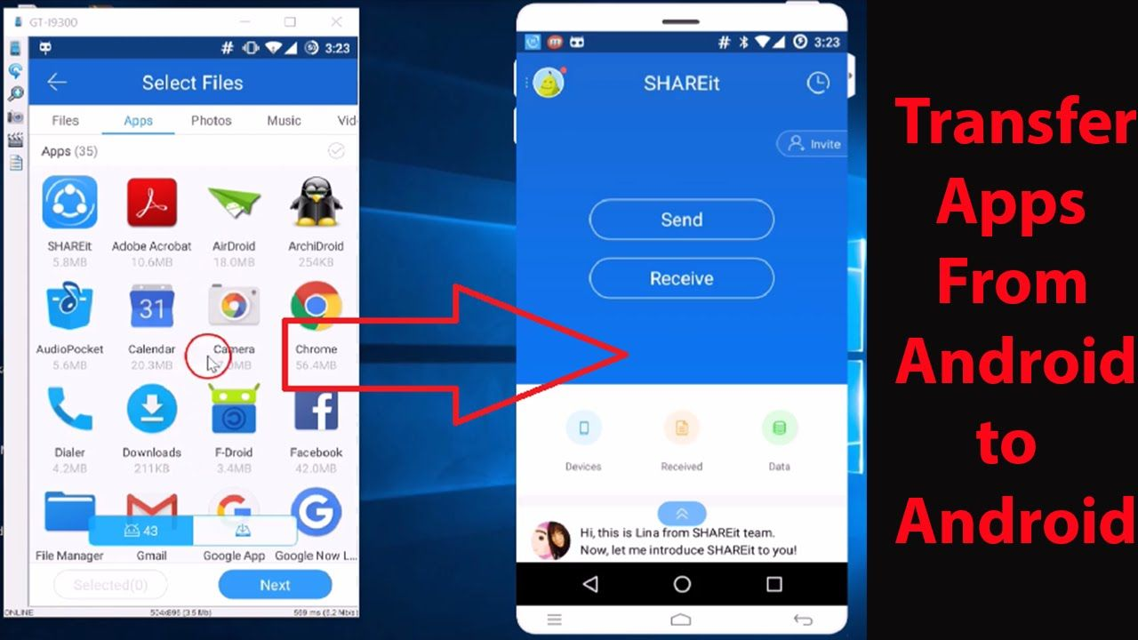 How To Transfer Apps From One Android Phone To Another No Wi Fi No Blue App Android Phone