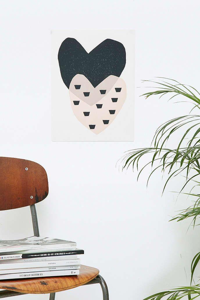 Seventy Tree Dotty Hearts Print - Urban Outfitters