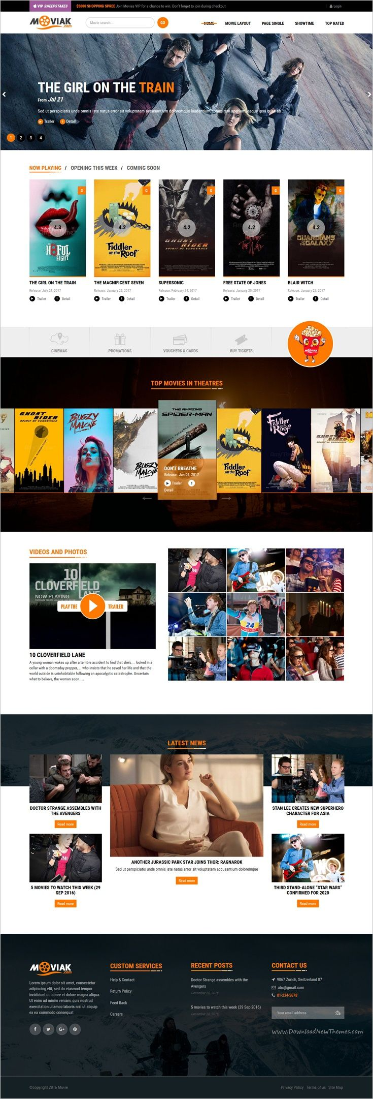 AmyMovie is modern and professional interface responsive 2in1 #WordPress theme for stunning #movie and #cinema website with #IMDB importer integrated download now➩ https://themeforest.net/item/amymovie-movie-cinema-wordpress-theme/18936937?ref=Datasata