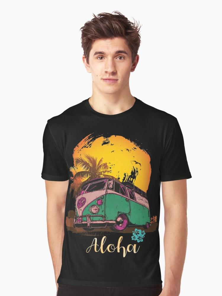 'VW T1 Bulli Aloha Hawaii Vintage Comic' T-Shirt by RS-Customstylez