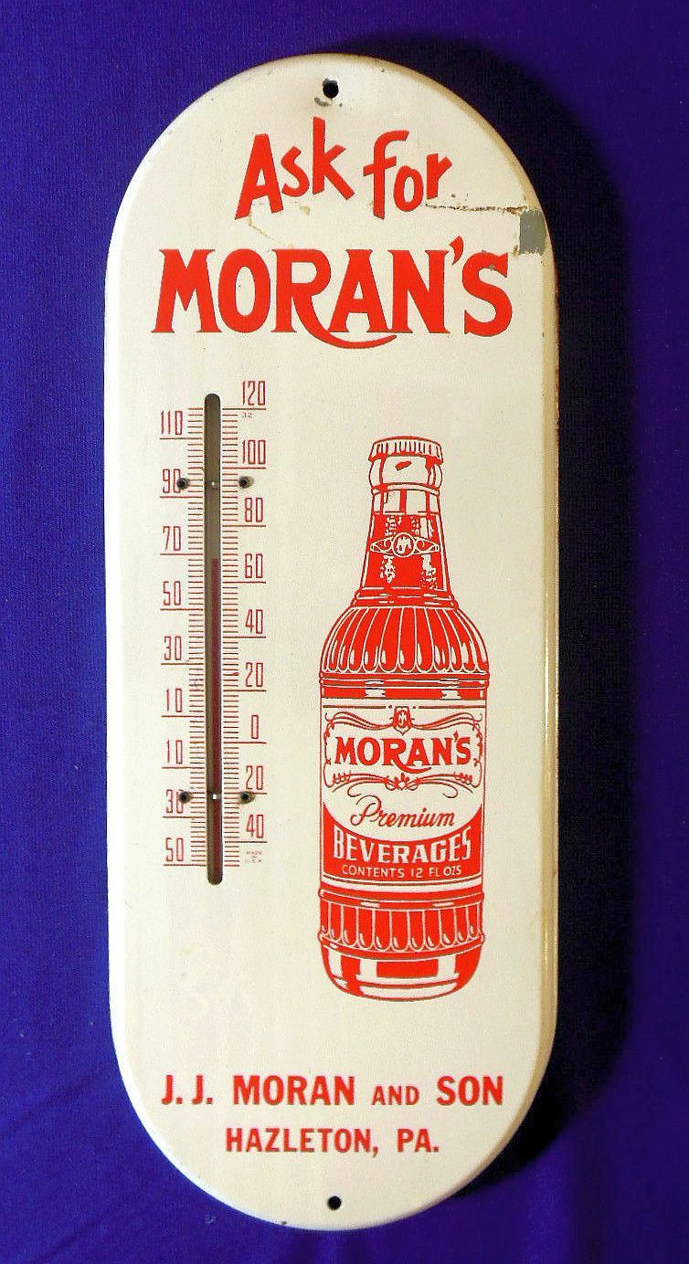 Moran\'s Vintage Thermometer (Old Antique Soda Pop Beverage ...
