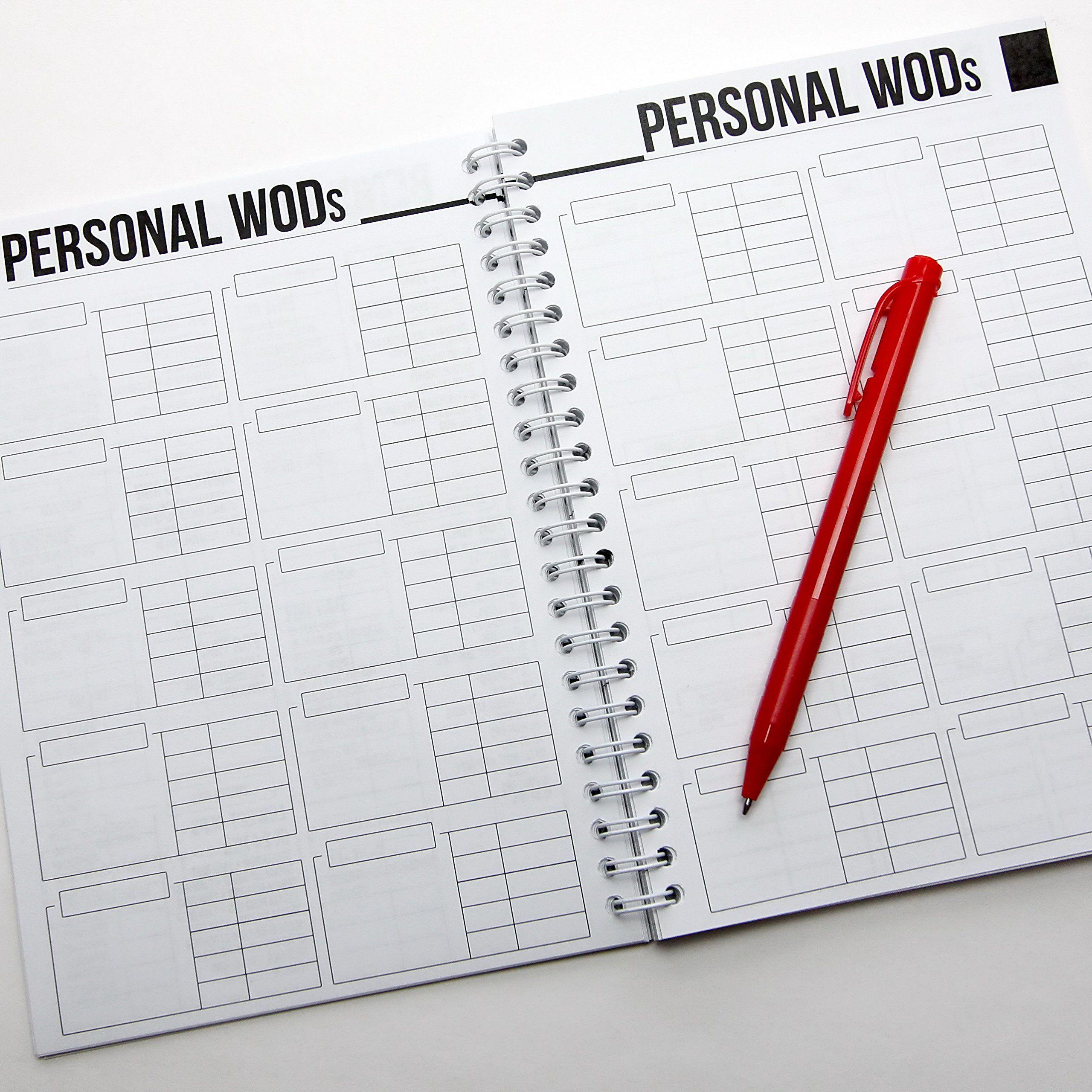 wodbook training journal by profit crossfit wod log book workout