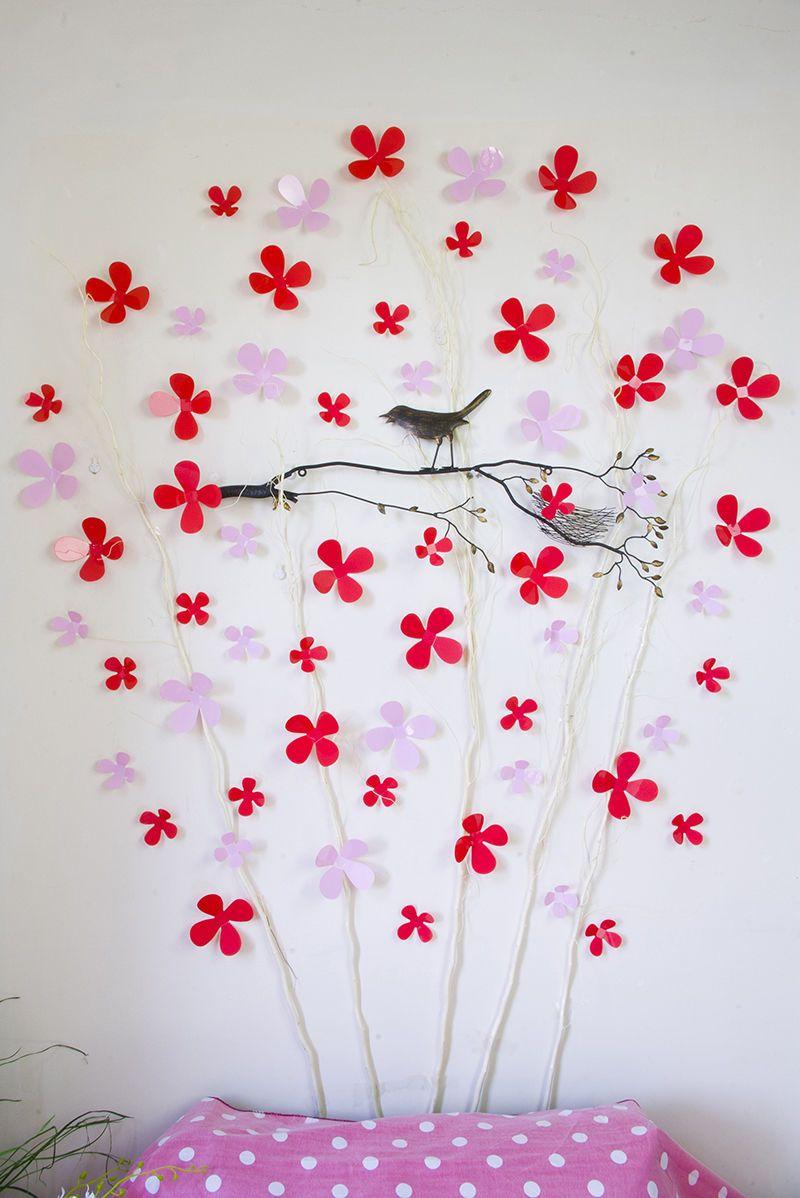 12 PCS 3D Sticker Autocollants Beauté Fleur Décoration DE LA Chambre Chaud | eBay