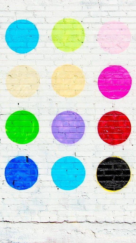[おしゃれカラーシリーズ]カラフルウォールiPhone壁紙 iPhone 5/5S 6/6S PLUS SE Wallpaper Background