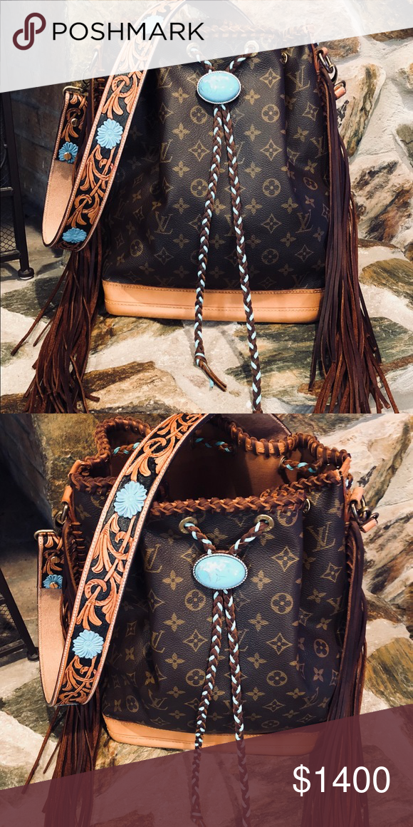 04581ead3646 Authentic Louis Vuitton Fringed Noe GM 100% authentic guaranteed. Fringed  by Classic Boho bags. Please ask questions before purchasing. Made to order.