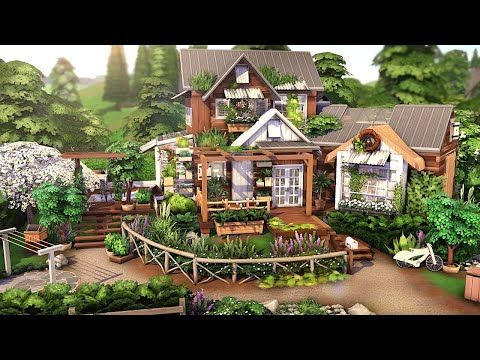 GARDENER S COTTAGE 🌿🌱🌷 THE SIMS 4 Speed Build NO CC