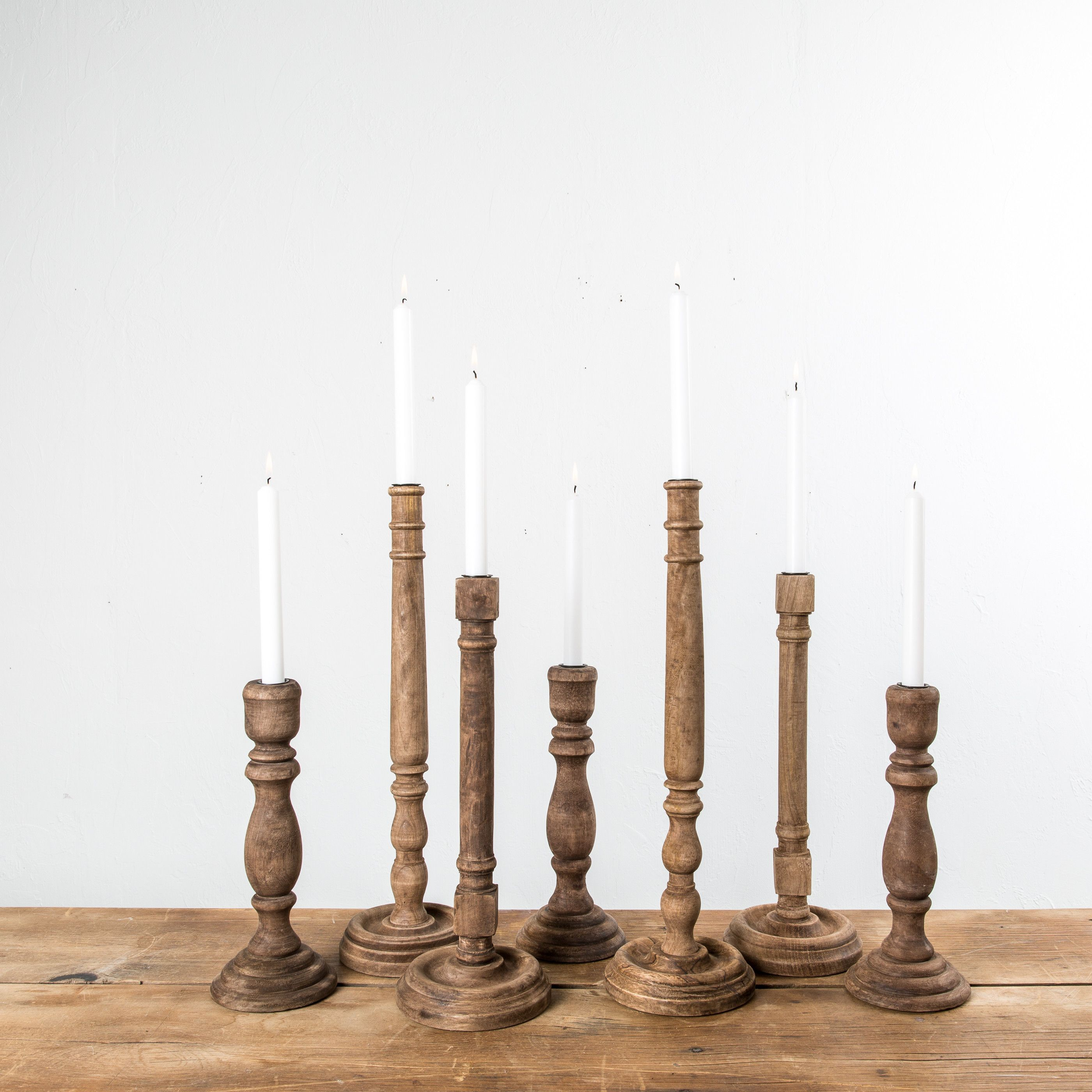 Wooden Taper Candleholder For The Home Candle Holders Magnolia