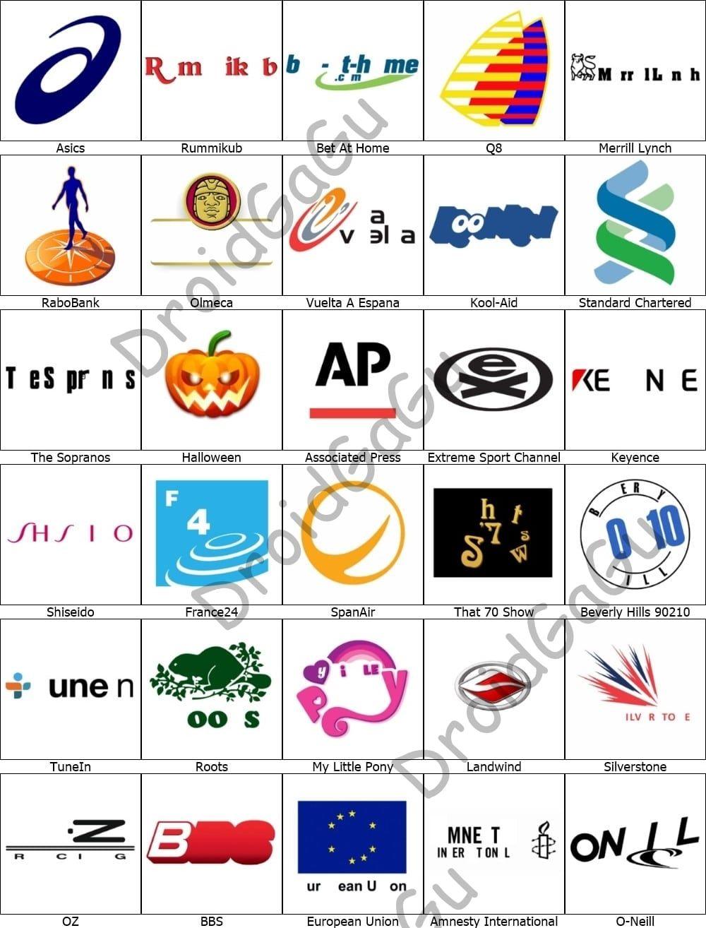 Level 16 Logo Quiz Answers Bubble DroidGaGu Game