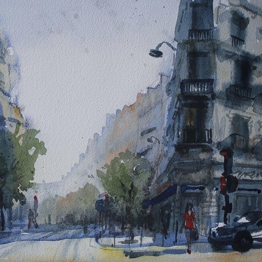 Winter Sunshine On Rue De Rochechouart In Paris S 9e
