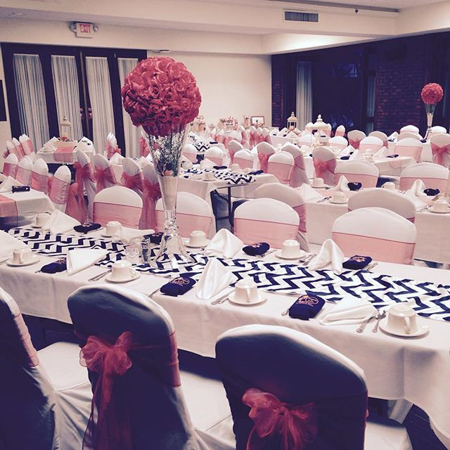 Nay and pink wedding with chevron runners organza bow sashes nay and pink wedding with chevron runners organza bow sashes weddings by color i do events pinterest quad cities chiavari chairs and chair covers junglespirit Image collections