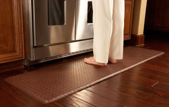 Tip Adding Floor Mats In Front Of The Sink Dishwasher Or Any Other Workstations In The Kitchen Kitchen Mats Floor Types Of Kitchen Flooring Kitchen Flooring