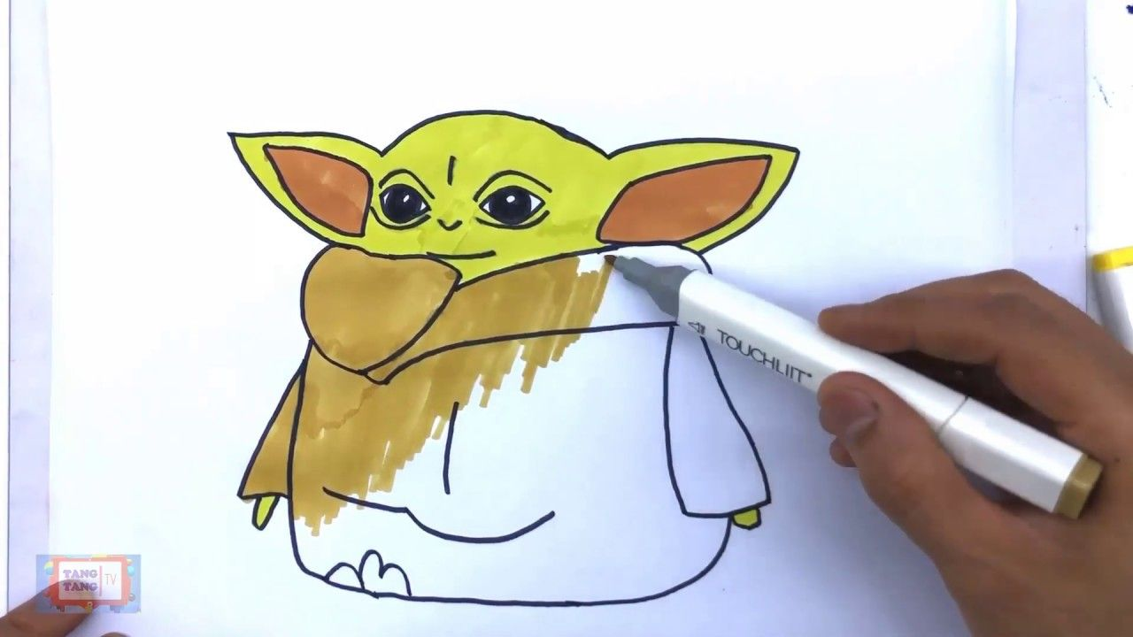 Coloring Pages Baby Yoda Coloring Pages Free And Downloadable Yoda Drawing Coloring Pages Sketchbook Journaling