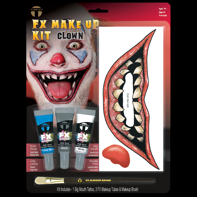 Big Mouth Clown Makeup kit (With images) Makeup kit