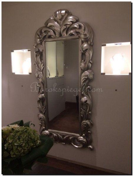 Grote barok spiegel rococo met krullen en zilveren grote for Klassiek modern interieur