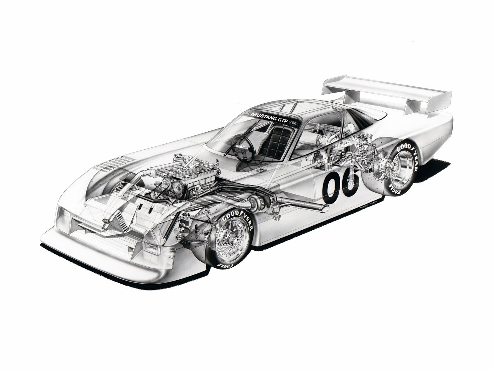 1983 Ford Mustang GTP - Illustrator unknown