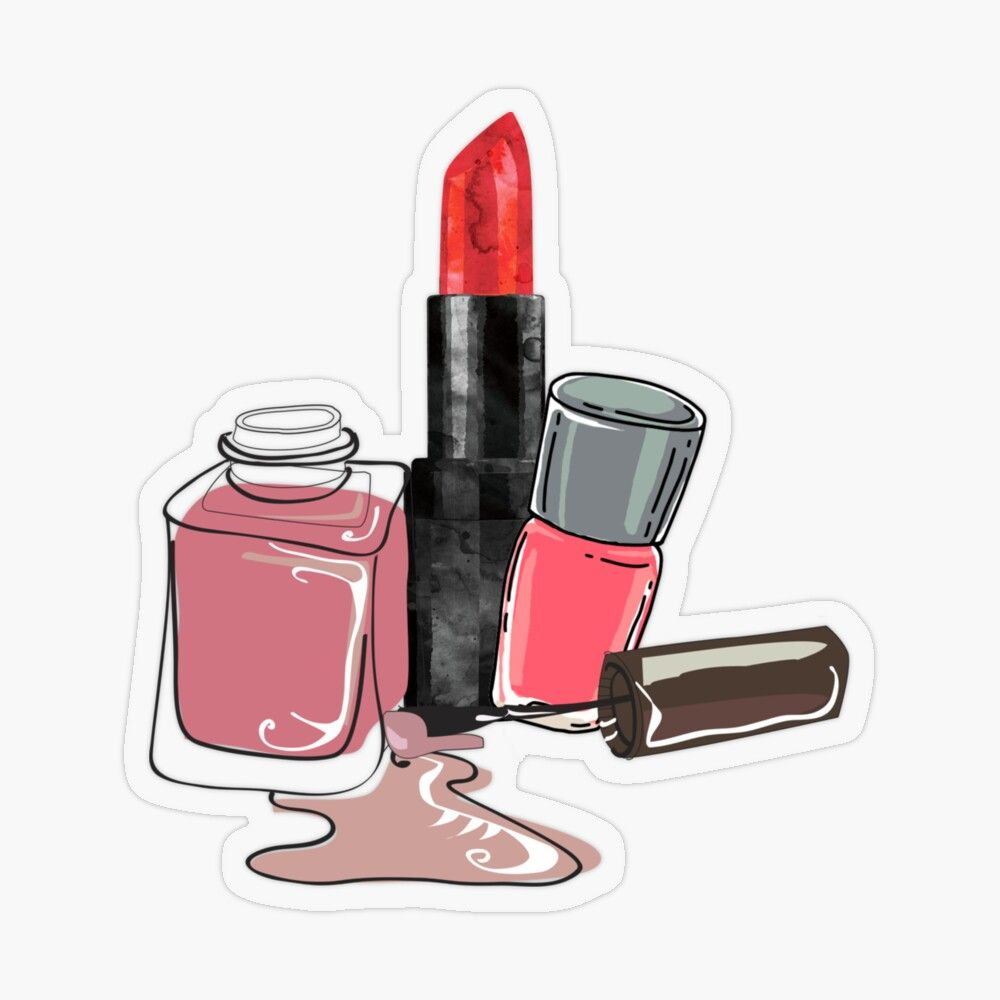 Makeup Art And Beautiful Colors Sticker By Prossori Makeup Stickers Beauty Lipstick Makeup Art