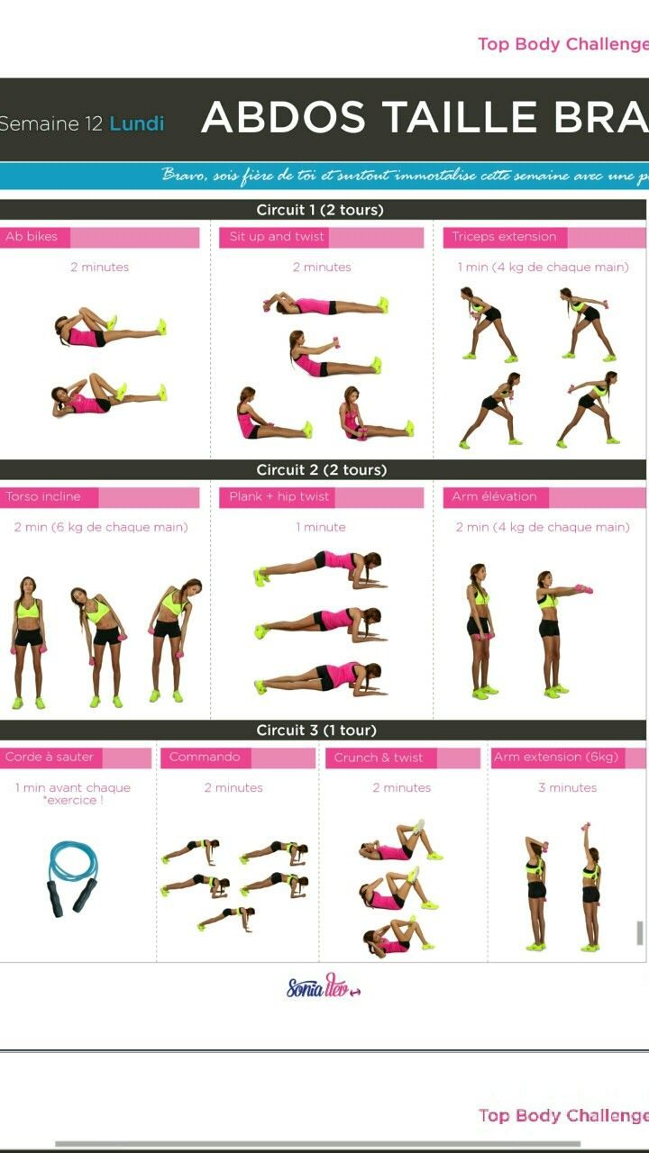 Préférence TBC2 SEMAINE 12 LUNDI | Fitness | Pinterest | Bodies, Workout and  VF94