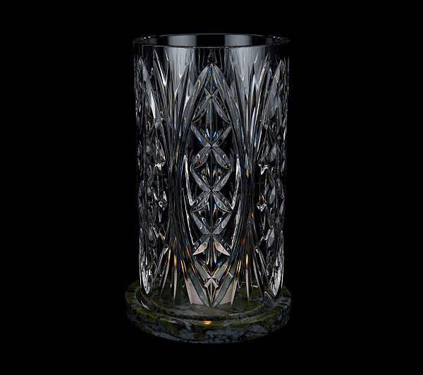 All eyes will smile at this Waterford crystal and Connemara marble cylinder hurricane. Page 1 QVC.com
