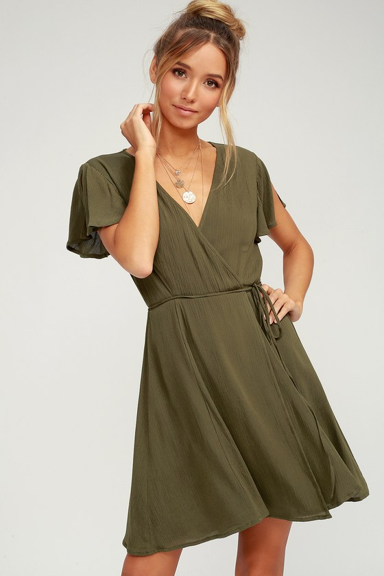 Harbor Point Olive Green Wrap Dress In 2020 Wrap Dress Long Green Dress Olive Green Bridesmaid Dresses