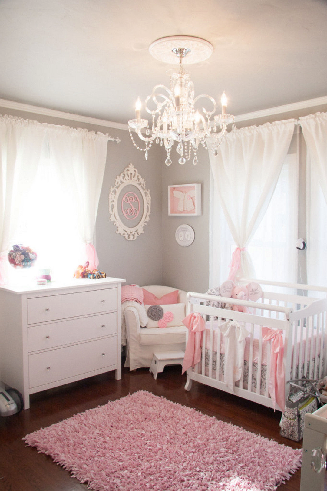 Elegant Project Nursery   Tiny Pink And Gray Nursery. Despite Our Tiny Room And  Budget, I Was Determined To Give Our Baby The Room She Deserved.