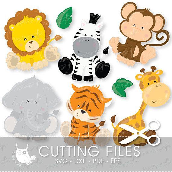 baby safari animals cutting files svg dxf pdf jungle animals cutting files for cricut and. Black Bedroom Furniture Sets. Home Design Ideas