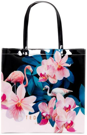 d19ffc23724e9 Ted Baker Flamingo London Cammcon Orchid Wonderland Large Icon Bag Purse  Tote SALE  29.97