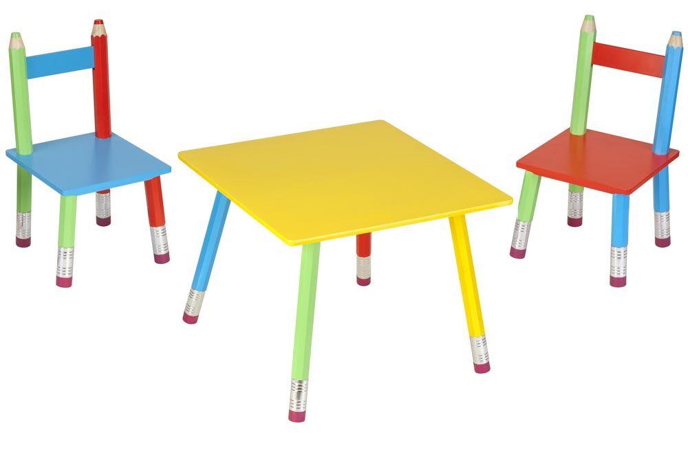 Salon Pour Enfant Crayons 1 Table Et 2 Chaises Pour Colorier Dessiner Travailler Cette Chambre Ser Table Et Chaise Enfant Chaise Enfant Idee Cadeau Enfant
