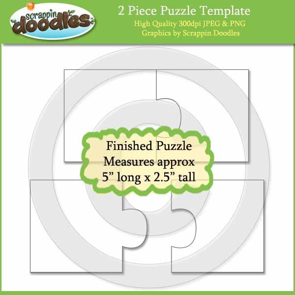 2 Piece Puzzle Template Download