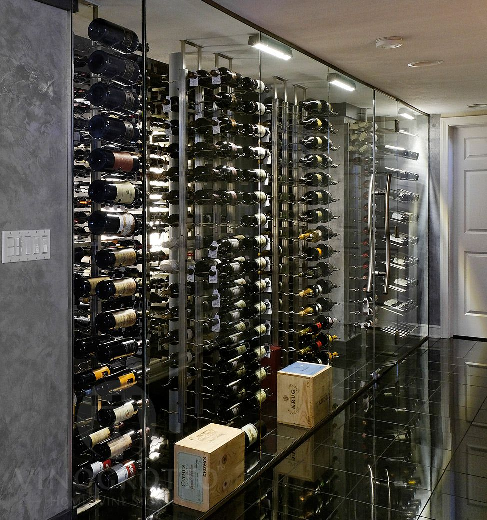 Vintageview Floor To Ceiling Mounted Frame In 2020 Glass Wine