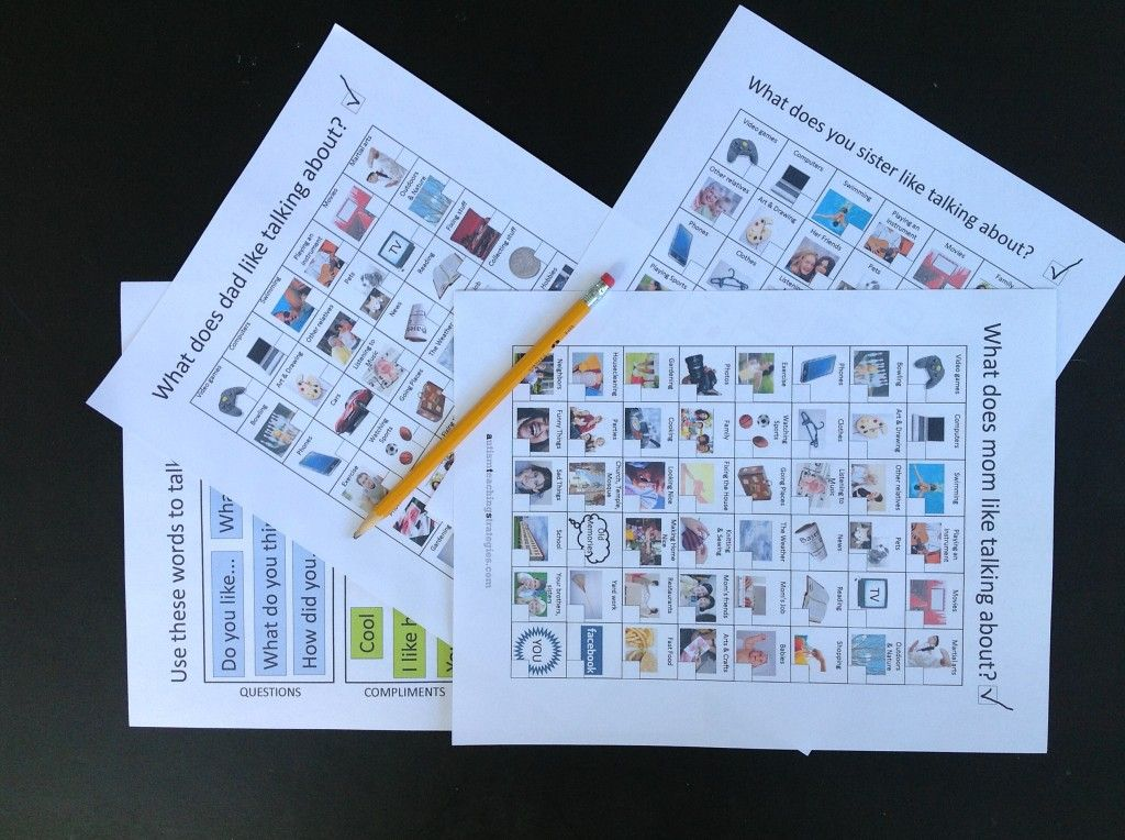 Free Conversation Social Skills Kits For Children With Autism