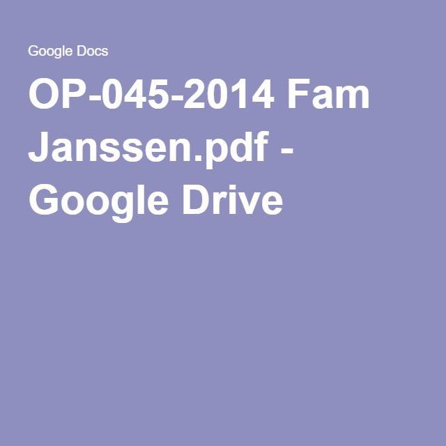 OP-045-2014 Fam Janssenpdf - Google Drive moodboard Pinterest - spreadsheet google docs