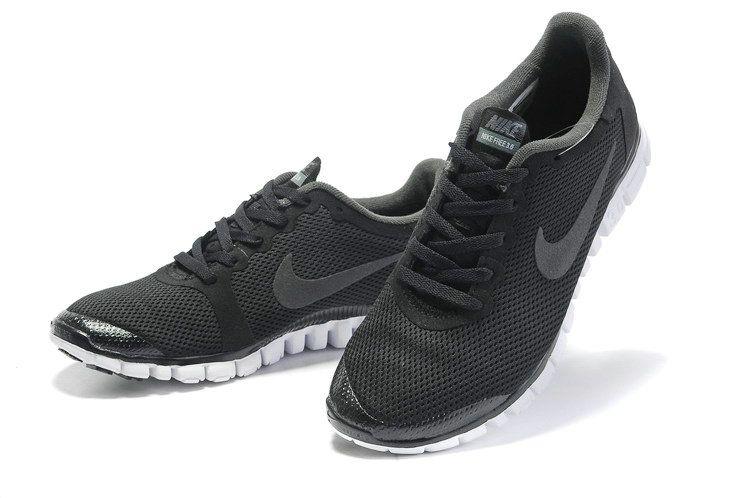 Nike Free 3.0 V2 Mens Original Black Pure Platinum Reflect