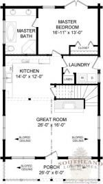 Anderson II - Log Home / Cabin Plans | Southland Log Homes