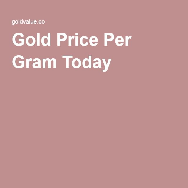 Gold Price Per Gram Today