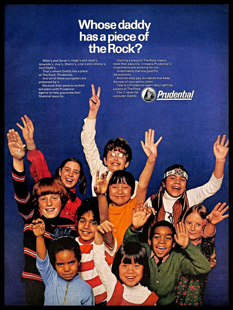 1971 prudential life insurance vintage print ad