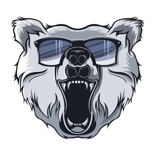 Bear Logo Illustration by Ed , via Behance Dessin