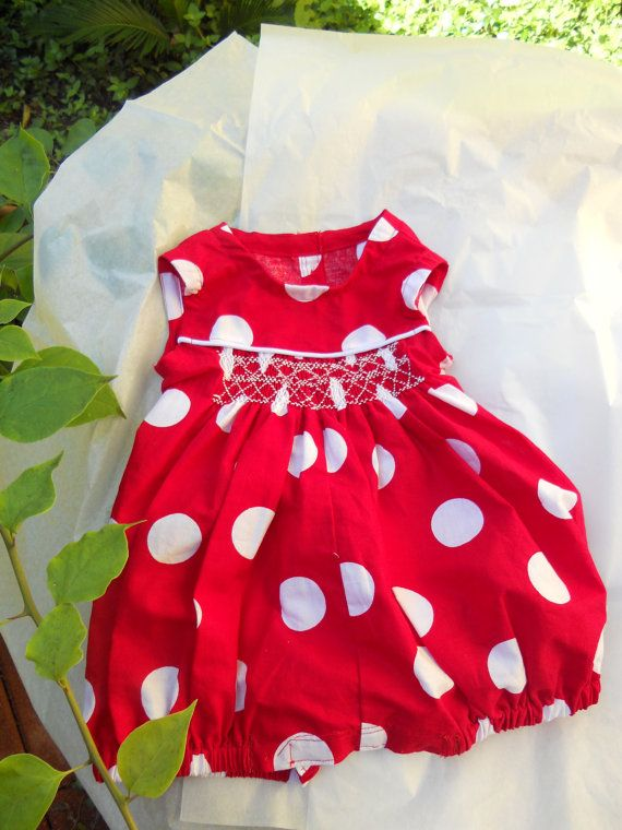 Red Polka Dot Sleeveless Bubble Size 6 by MatildesLovingStitch, $25.00