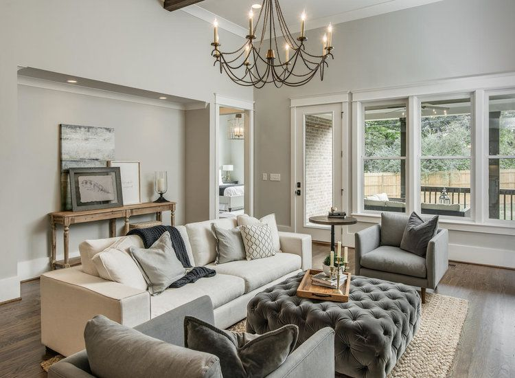 Repose Gray In A Monochromatic Living Room By Domaine Development Photography By Garrett Buell Living Room Decor Gray Living Room Grey Tan Living Room #warm #grey #living #room